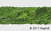 Satellite Panoramic Map of Houne