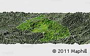 Satellite Panoramic Map of Houne, semi-desaturated