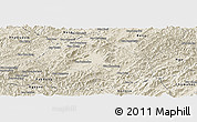 Shaded Relief Panoramic Map of Houne