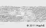 Silver Style Panoramic Map of Houne