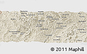 Shaded Relief Panoramic Map of La