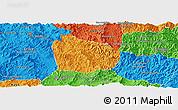 Political Panoramic Map of Na Mo