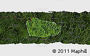 Satellite Panoramic Map of Na Mo, darken