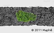 Satellite Panoramic Map of Na Mo, desaturated
