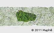 Satellite Panoramic Map of Na Mo, lighten