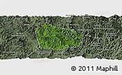 Satellite Panoramic Map of Na Mo, semi-desaturated