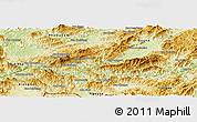 Physical Panoramic Map of Pak Beng