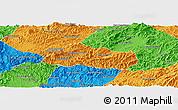 Political Panoramic Map of Pak Beng