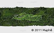 Satellite Panoramic Map of Pak Beng, darken