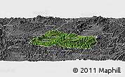 Satellite Panoramic Map of Pak Beng, desaturated