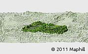 Satellite Panoramic Map of Pak Beng, lighten