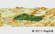 Satellite Panoramic Map of Pak Beng, physical outside