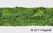 Satellite Panoramic Map of Pak Beng