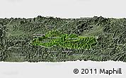 Satellite Panoramic Map of Pak Beng, semi-desaturated