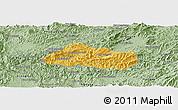 Savanna Style Panoramic Map of Pak Beng