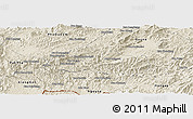 Shaded Relief Panoramic Map of Pak Beng