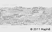 Silver Style Panoramic Map of Pak Beng