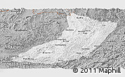 Gray Panoramic Map of Oudomxay