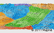 Political Shades Panoramic Map of Oudomxay