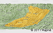 Savanna Style Panoramic Map of Oudomxay