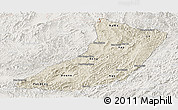 Shaded Relief Panoramic Map of Oudomxay, lighten