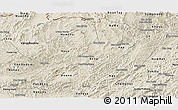 Shaded Relief Panoramic Map of Oudomxay