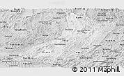 Silver Style Panoramic Map of Oudomxay