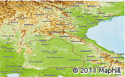 Physical Panoramic Map of Laos