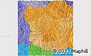 Political Shades 3D Map of Phongsaly