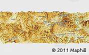 Physical Panoramic Map of Boun Tay