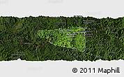 Satellite Panoramic Map of Boun Tay, darken