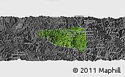 Satellite Panoramic Map of Boun Tay, desaturated