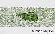 Satellite Panoramic Map of Boun Tay, lighten