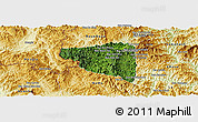 Satellite Panoramic Map of Boun Tay, physical outside