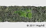 Satellite Panoramic Map of Boun Tay, semi-desaturated