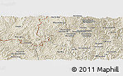 Shaded Relief Panoramic Map of Boun Tay