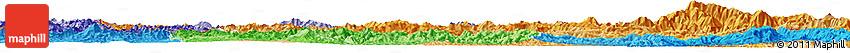Political Shades Horizon Map of Phongsaly