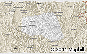Classic Style 3D Map of Khoua
