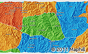 Political 3D Map of Khoua