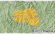Savanna Style 3D Map of Khoua