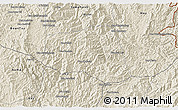 Shaded Relief 3D Map of Khoua