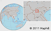 Gray Location Map of Khoua