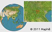 Satellite Location Map of Khoua