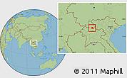 Savanna Style Location Map of Khoua
