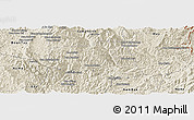 Shaded Relief Panoramic Map of Khoua