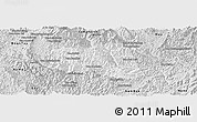 Silver Style Panoramic Map of Khoua
