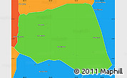Political Simple Map of Khoua