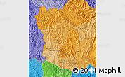 Political Shades Map of Phongsaly