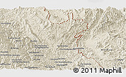 Shaded Relief Panoramic Map of May