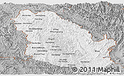 Gray Panoramic Map of Phongsaly